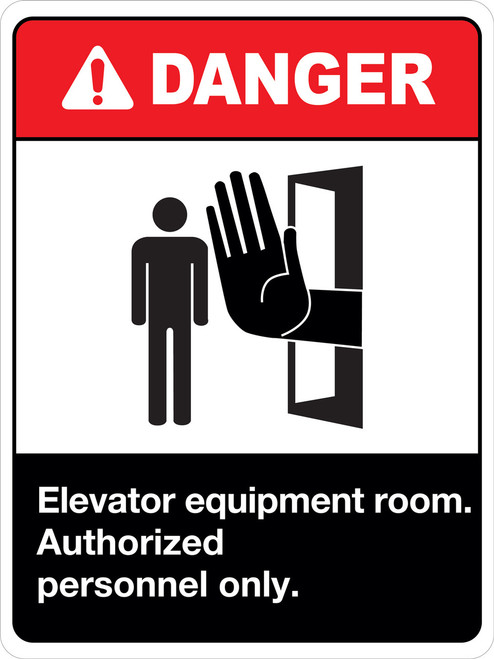 Danger Elevator Equipment Room Authorized Personnel Only
