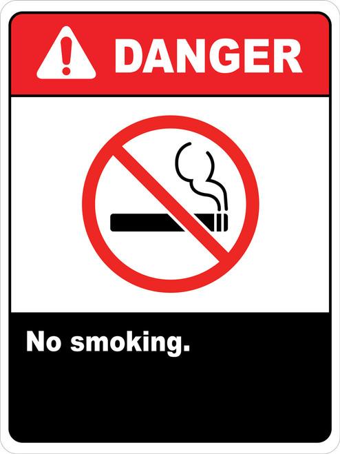 Danger No Smoking Signs