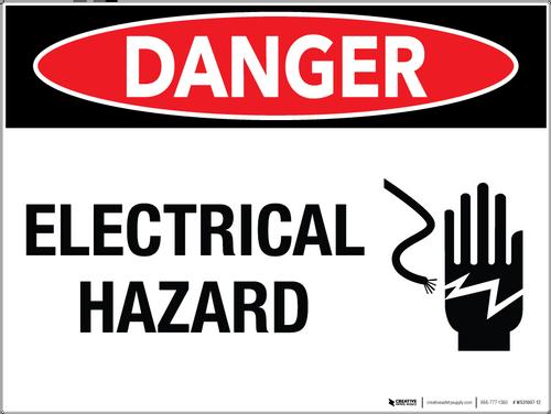 Danger Electrical Hazard Wall Sign