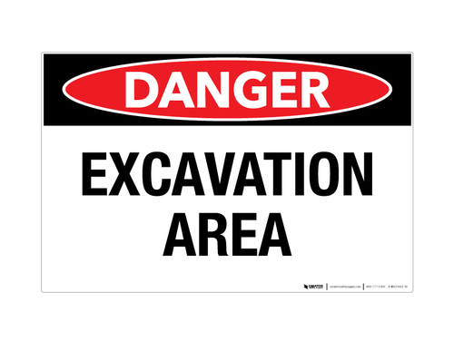 Danger - Excavation Area - Wall Sign