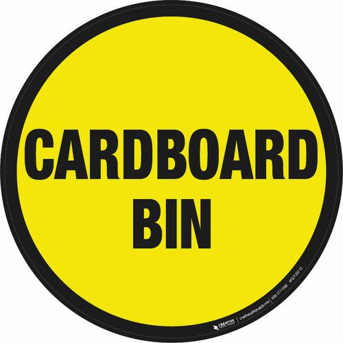 Cardboard Bin Floor Sign