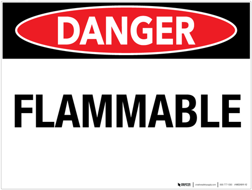 Danger Flammable Wall Sign