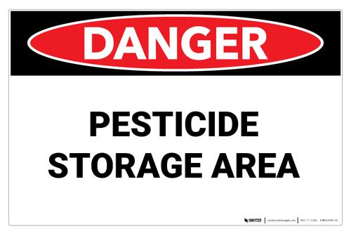 Danger - Pesticide Storage Area - Wall Sign