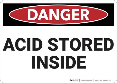 Danger: Acid Storage Inside - Wall Sign