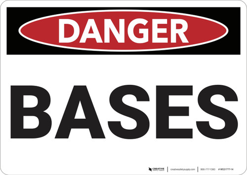 Danger: Bases - Wall Sign