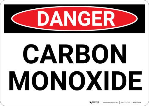 Danger: Carbon Monoxide - Wall Sign