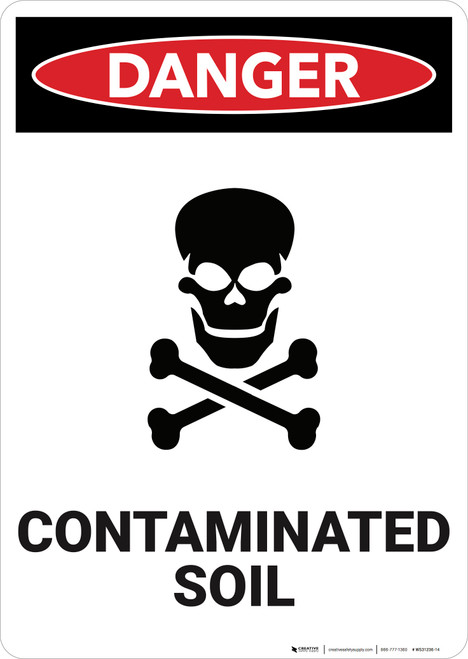 Danger: Contaminated Soil - Wall Sign