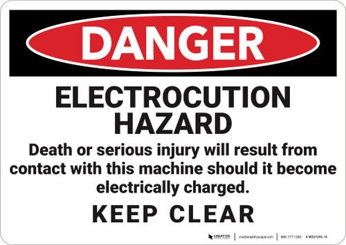 Danger: Electrocution Hazard - Wall Sign