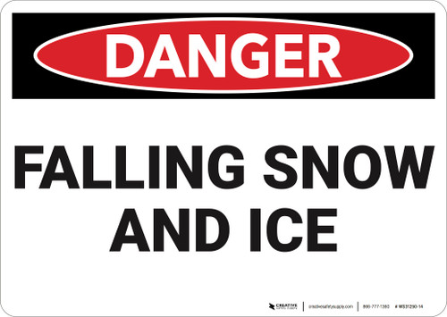 Danger: Falling Snow and Ice - Wall Sign