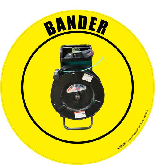 Bander (Real) Floor Sign