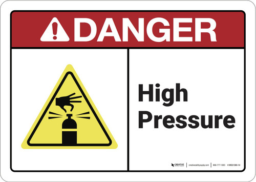 Danger: High Pressure ANSI - Wall Sign