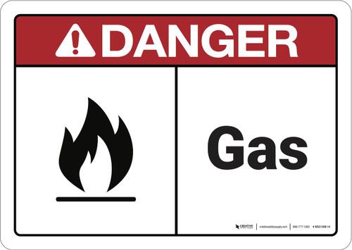 Danger: Gas ANSI - Wall Sign