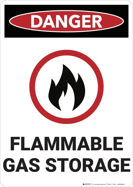 Danger: Flammale Gas Storage - Wall Sign