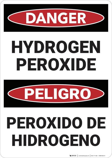 Danger: Hyrdrogen Peroxide - Wall Sign