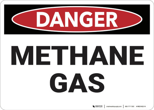 Danger: Methane Gas - Wall Sign