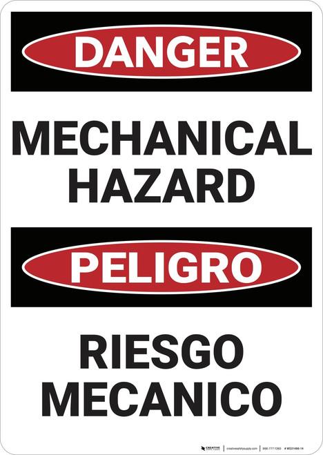 Danger: Mechanical Hazard - Wall Sign