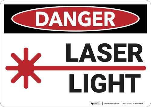 Danger: Laser Light - Wall Sign
