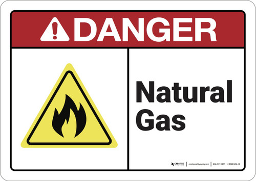 Danger: Natural Gas ANSI - Wall Sign