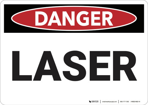 Danger: Laser - Wall Sign