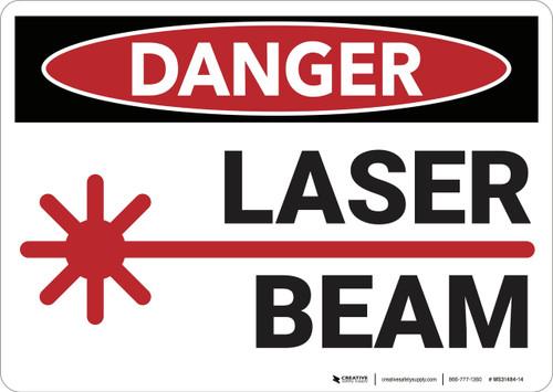 Danger: Laser Beam - Wall Sign