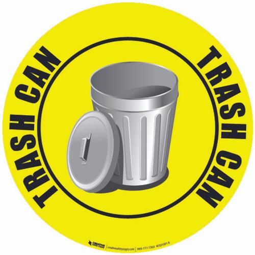 Trash Can Custom Floor Safety Sign