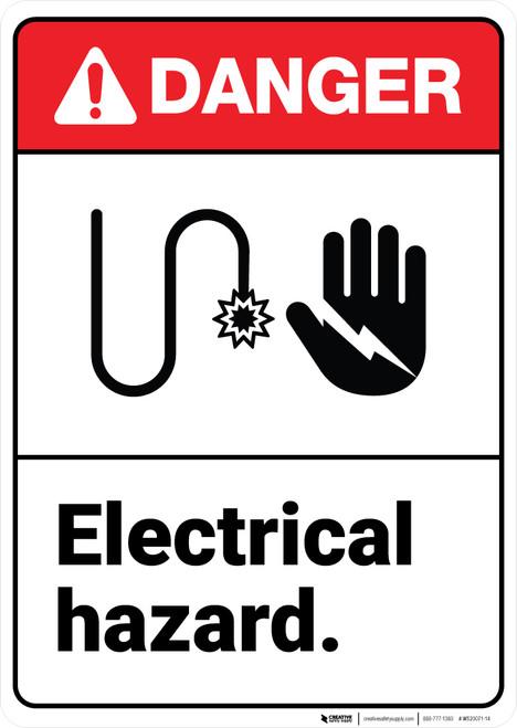 Danger: Electrical Hazard ANSI - Wall Sign