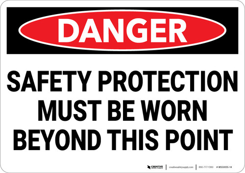 Danger: PPE Safety Protection - Wall Sign
