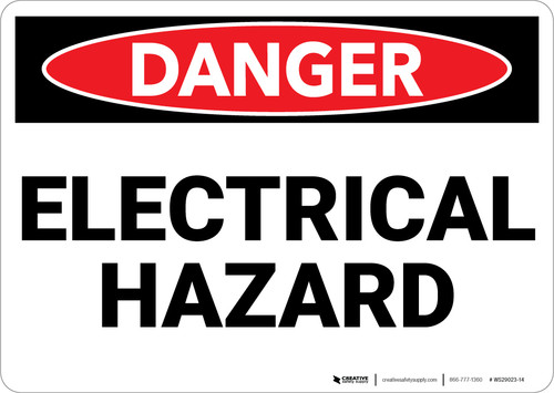 Danger: Electrical Hazard - Wall Sign