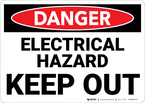 Danger: Electrical Hazard Keep Out - Wall Sign