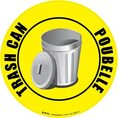 Trash Can (Poubelle) Floor Sign