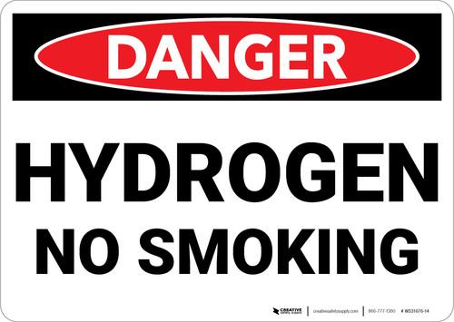 Danger: Hydrogen No Smoking - Wall Sign
