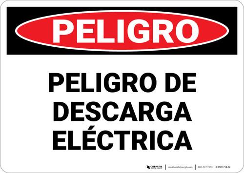 Danger: Peligro Electrical Hazard Spanish - Wall Sign
