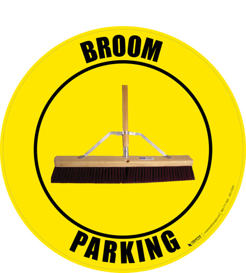 Broom Parking (Real) Floor Sign