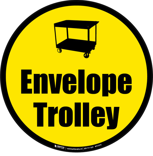 Envelope Trolley Floor Sign