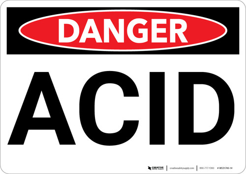 Danger: Acid Warning - Wall Sign