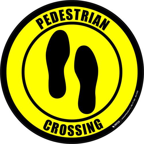 Pedestrian Crossing (Foot Prints) Floor Sign