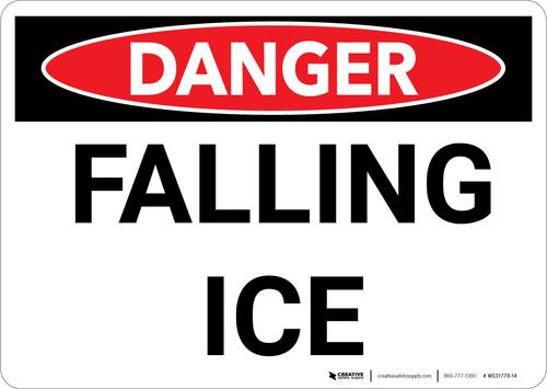 Danger: Falling Ice Warning - Wall Sign