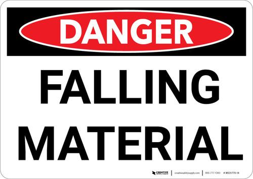 Danger: Falling Material Warning - Wall Sign
