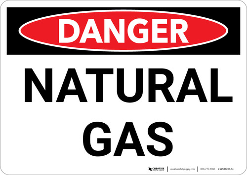 Danger: Natural Gas Warning - Wall Sign