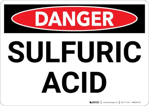 Danger: Sulfuric Acid Warning - Wall Sign