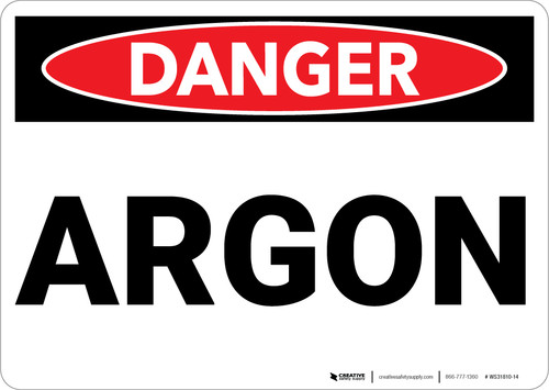 Danger: Argon - Wall Sign