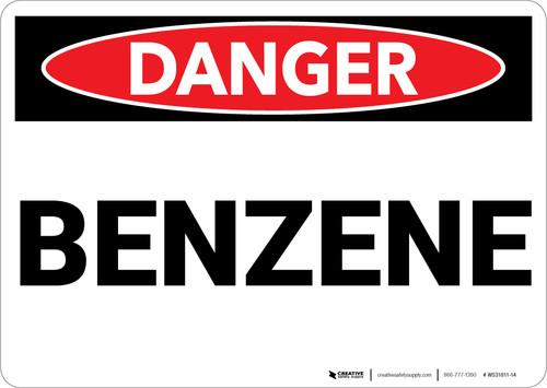 Danger: Benzene - Wall Sign