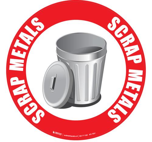 Scrap Metals Floor Sign