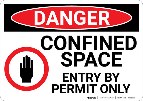 Danger: Enter By Permit Only - Wall Sign