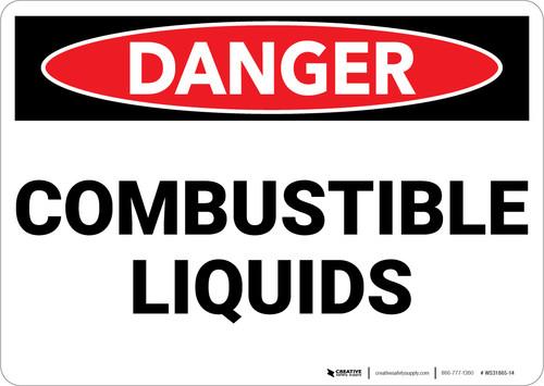 Danger: Flammable Explosive Liquids - Wall Sign