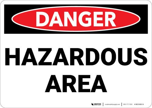 Danger: Hazardous Area - Wall Sign