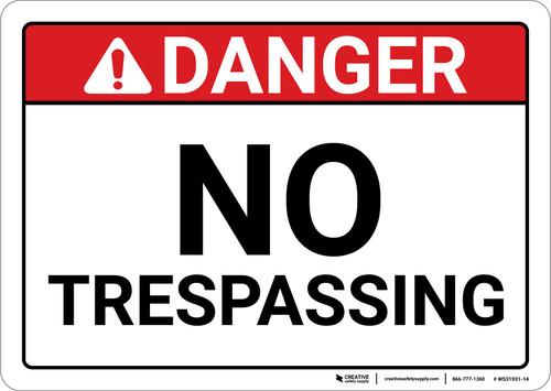 Danger: No Trespassing ANSI - Wall Sign