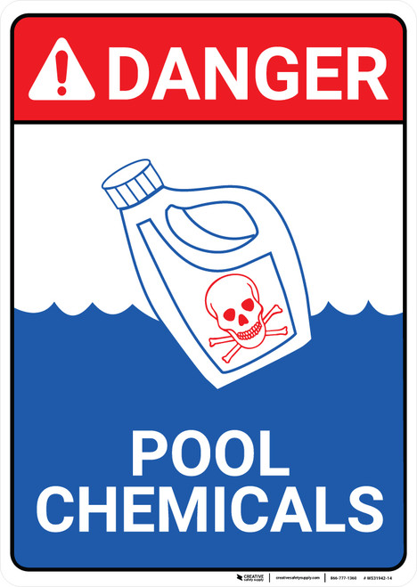 Danger: Pool Chemicals - Wall Sign