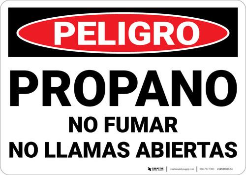 Danger: Spanish Propane No Smoking Open Flame - Wall Sign