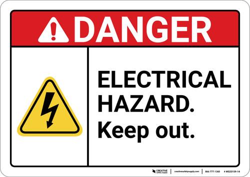 Danger: Electrical Hazard Keep Out ANSI - Wall Sign